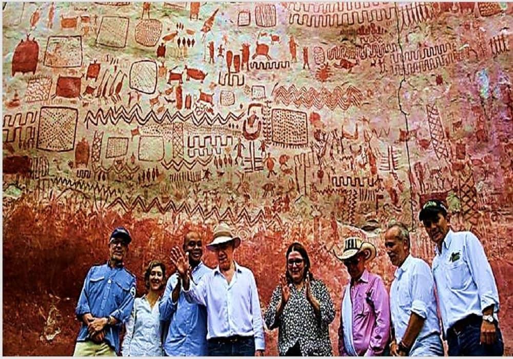 কলম্বিয়ার রেইন ফরেস্টে পাওয়া ১২,৫০০ বছর আগের বরফযুগের চিত্রকর্ম।